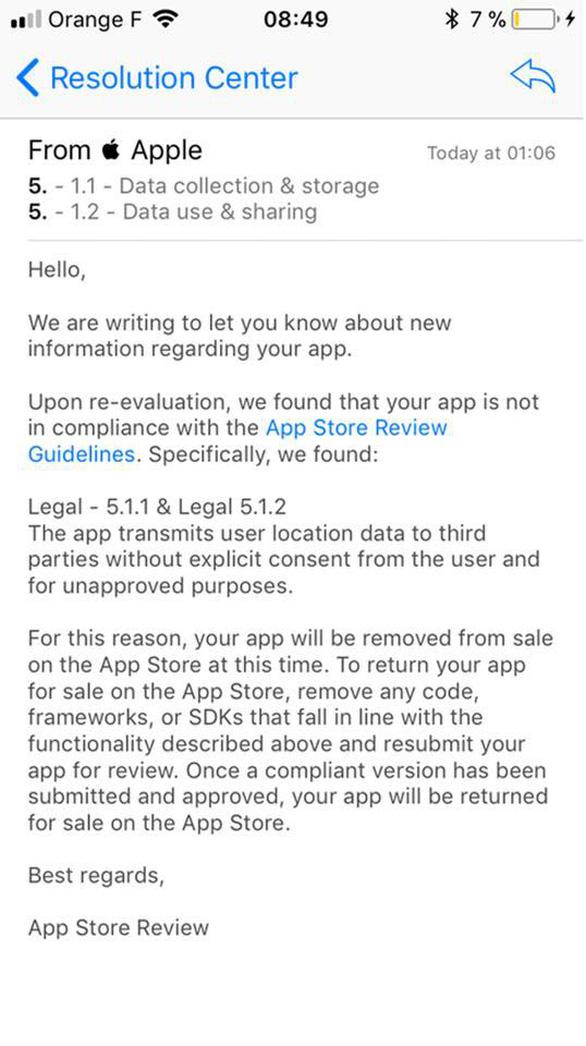 Apple gỡ bỏ ứng dụng chia sẻ trái phép vị trí thực người dùng - Ảnh 2.