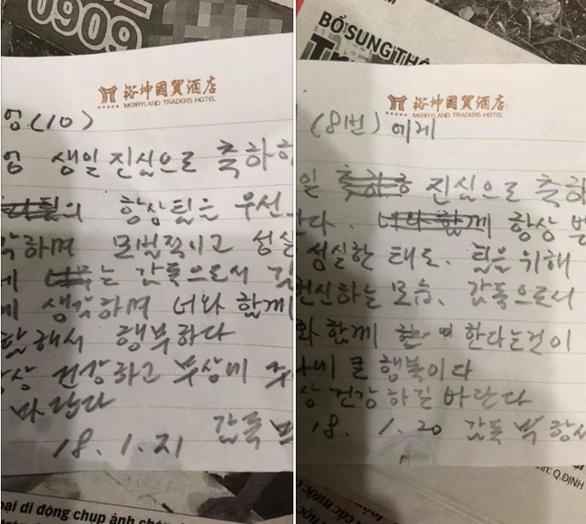 Tiết lộ thư tay HLV Park mừng sinh nhật học trò ở Thường Châu - Ảnh 3.