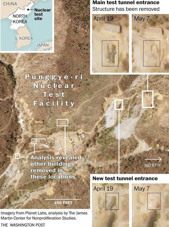 Triều Tiên sẽ phá hủy bãi thử hạt nhân sớm nhất ngày 23-5 - Ảnh 1.