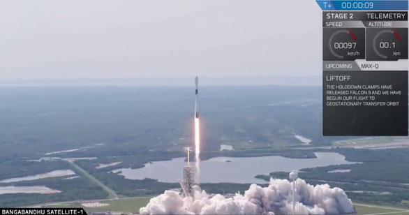 SpaceX phóng thành công vệ tinh phủ sóng Internet cho toàn bộ Bangladesh - Ảnh 1.