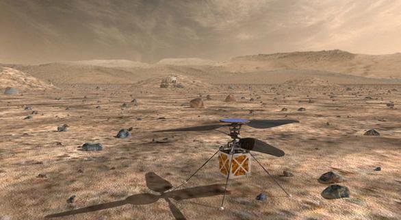 Chờ trực thăng của NASA cất cánh từ sao Hỏa - Ảnh 1.