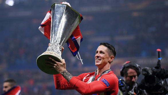 Atletico Madrid ăn mừng chức vô địch Europa League - Ảnh 3.