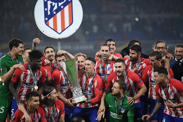 Atletico Madrid ăn mừng chức vô địch Europa League - Ảnh 1.