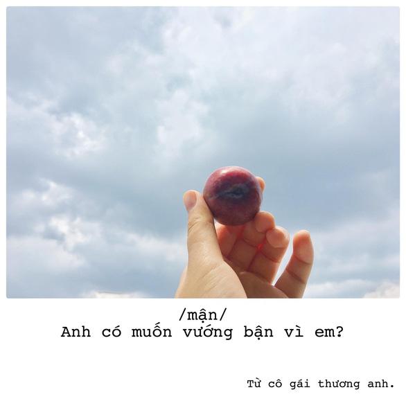 Bộ ảnh thả thính bằng trái cây của cô gái Sài Gòn - Ảnh 1.