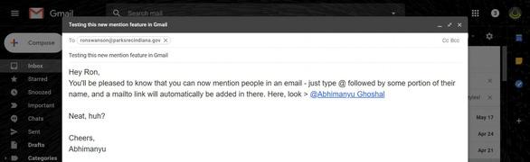 Học Twitter, Google cho phép người dùng nhắc người khác bằng @ - Ảnh 2.