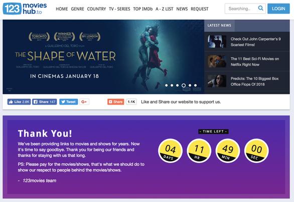 Một website phim lậu do người Việt quản lý ngừng hoạt động - Ảnh 2.