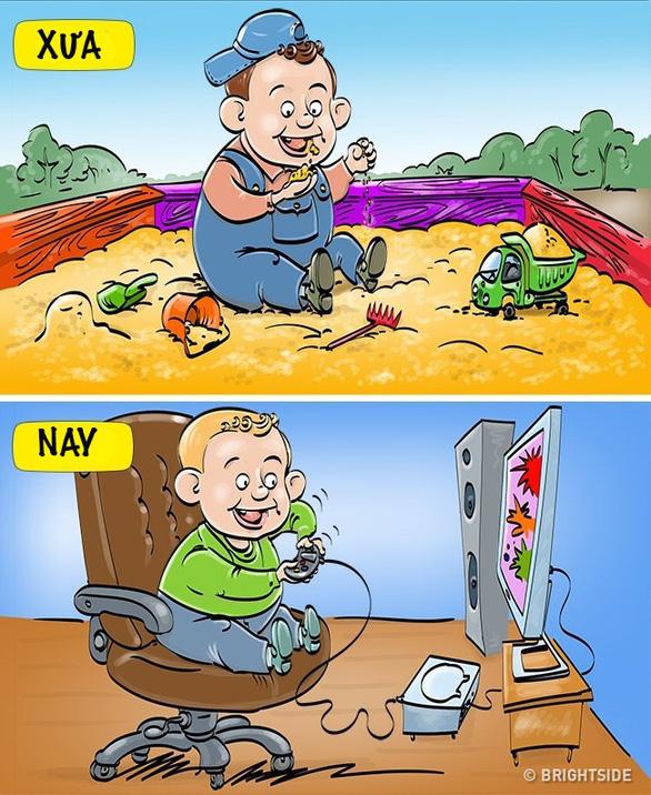 Thú vui giải trí của trẻ thời nay khác ngày xưa thế nào? - Ảnh 1.