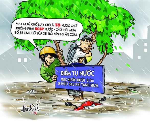 Hí họa Sài Gòn mùa... tụ nước - Ảnh 1.