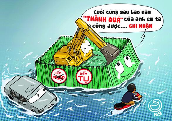 Hí họa Sài Gòn mùa... tụ nước - Ảnh 2.
