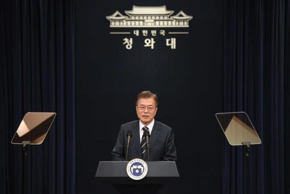 Tổng thống Hàn Quốc điện đàm với ông Trump trước cuộc gặp Mỹ - Triều - Ảnh 1.