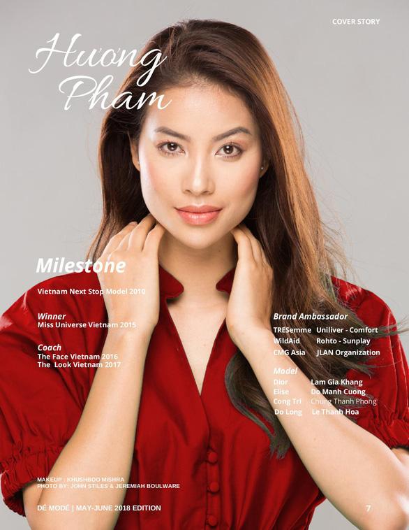 Hoa hậu Phạm Hương rực rỡ trên bìa tạp chí Dé Modé - Ảnh 4.
