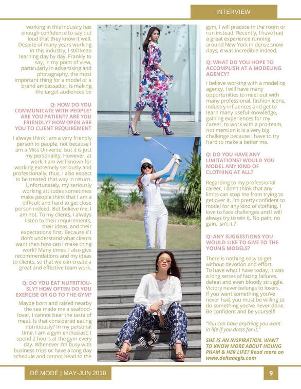 Hoa hậu Phạm Hương rực rỡ trên bìa tạp chí Dé Modé - Ảnh 6.