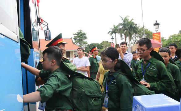 200 chiến sĩ nhí Thanh Hóa bước vào Học kỳ quân đội - Ảnh 3.