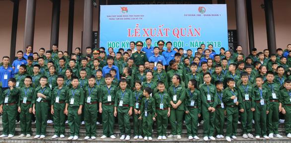 200 chiến sĩ nhí Thanh Hóa bước vào Học kỳ quân đội - Ảnh 1.