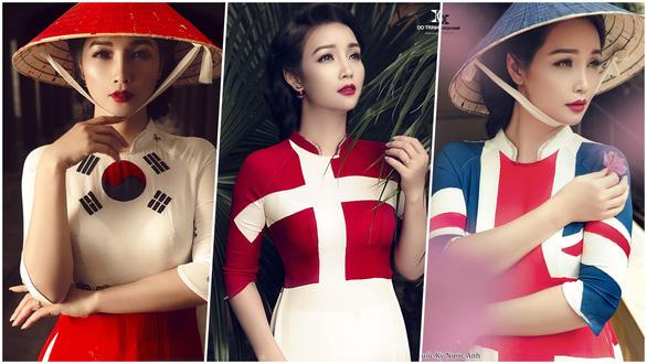 17-6: Mai Thu Huyền khoe áo dài 32 nước tham dự World Cup 2018 - Ảnh 8.