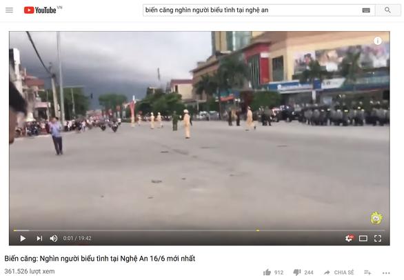 'Nghìn người biểu tình ở Nghệ An 16-6' là clip bịa đặt - Ảnh 1.