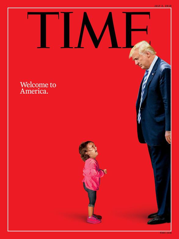 Trang bìa Time cho thấy một nước Mỹ thiếu nhân từ của ông Trump - Ảnh 1.