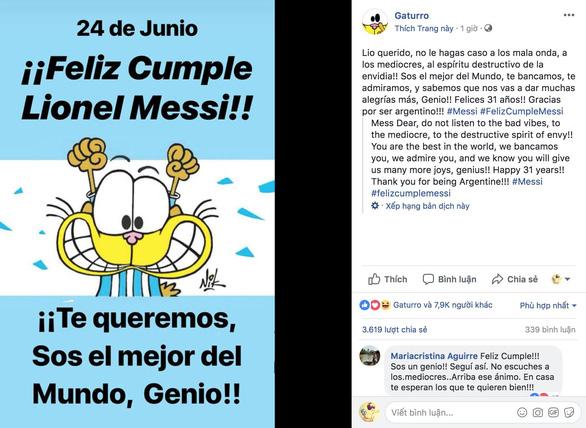 Giữa tâm bão, Messi đón sinh nhật với rừng động viên - Ảnh 7.