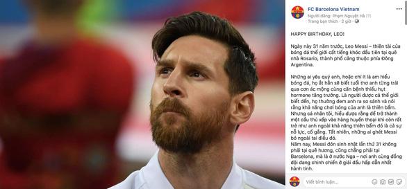 Giữa tâm bão, Messi đón sinh nhật với rừng động viên - Ảnh 9.