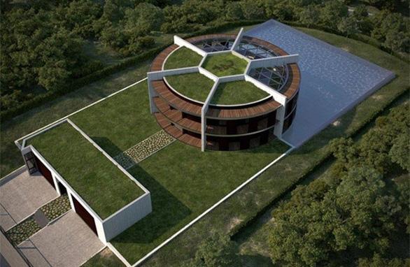 Ngôi nhà đậm chất sân cỏ của Messi - Ảnh 1.