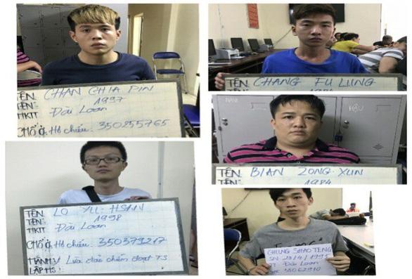 Sáu người Đài Loan móc nối người Việt lừa đảo hàng chục tỉ đồng - Ảnh 1.