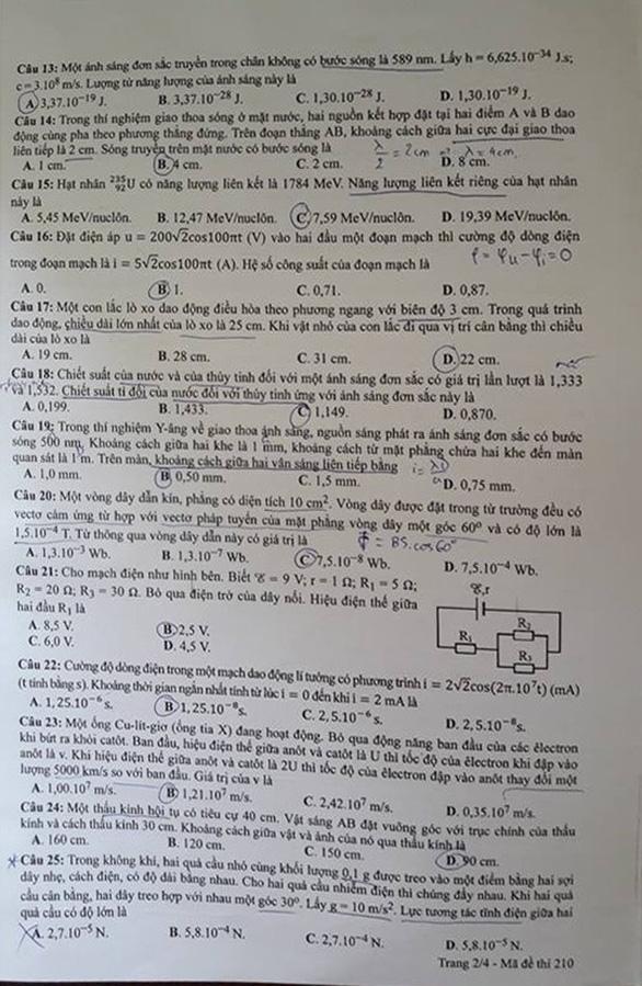 Xem đề vật lý THPT quốc gia: hỏi nhiều về điện, có kiến thức lớp 11 - Ảnh 2.