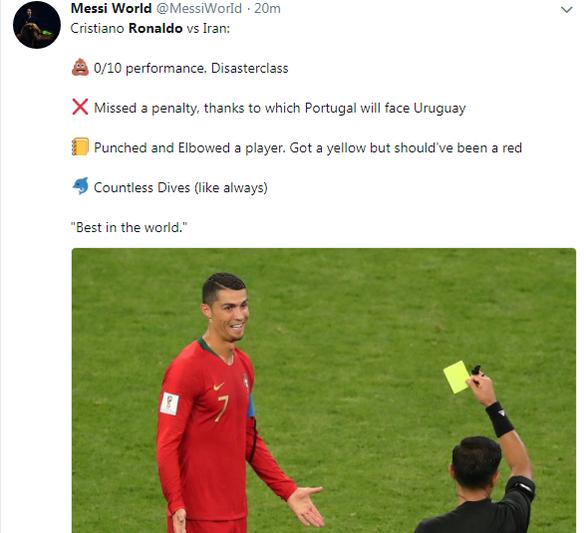 Ronaldo hỏng phạt đền, fan Messi sướng - Ảnh 2.