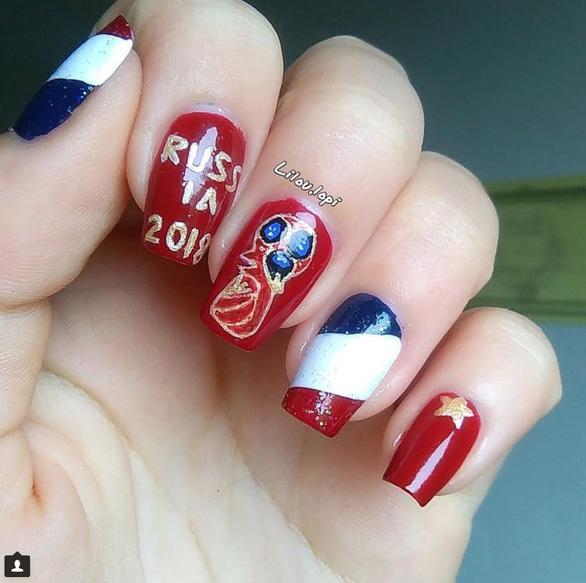 10 bộ nail cực chất cổ vũ vòng 1/8 World Cup - Ảnh 1.