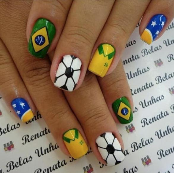 10 bộ nail cực chất cổ vũ vòng 1/8 World Cup - Ảnh 8.