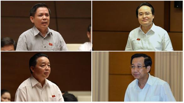 Sáng nay Quốc hội bắt đầu chất vấn 4 bộ trưởng - Ảnh 1.