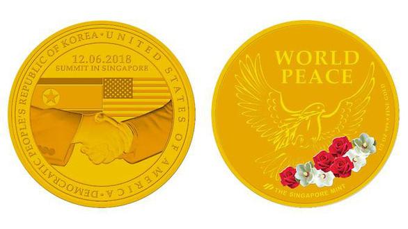 Singapore phát hành huy hiệu kỷ niệm thượng đỉnh Mỹ - Triều - Ảnh 1.