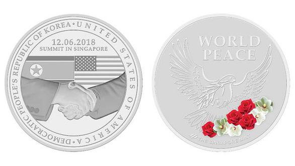 Singapore phát hành huy hiệu kỷ niệm thượng đỉnh Mỹ - Triều - Ảnh 3.
