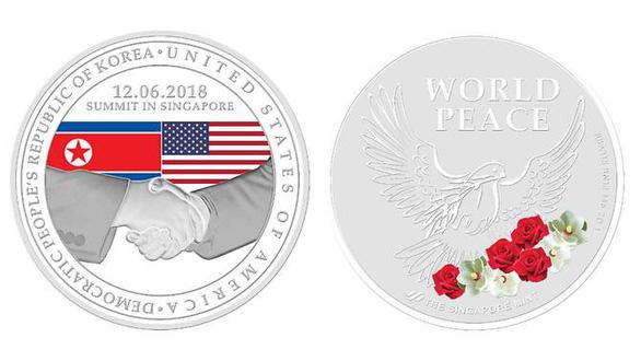 Singapore phát hành huy hiệu kỷ niệm thượng đỉnh Mỹ - Triều - Ảnh 2.