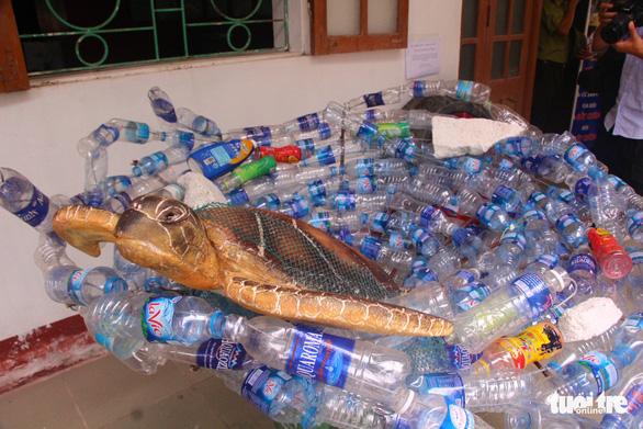 Sáng tạo nghệ thuật từ rác thải nhựa - Ảnh 3.