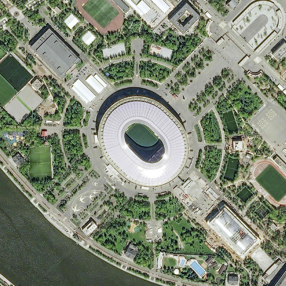 Ngắm các sân vận động World Cup 2018 từ trên cao - Ảnh 1.