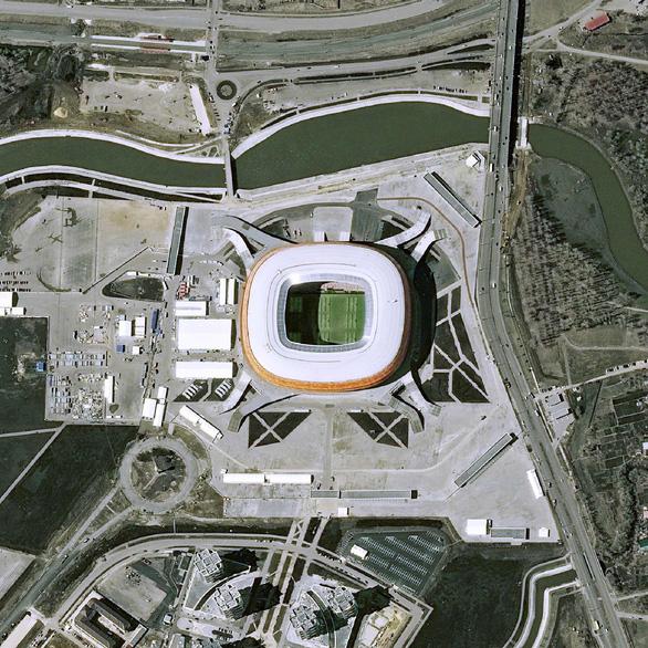 Ngắm các sân vận động World Cup 2018 từ trên cao - Ảnh 10.