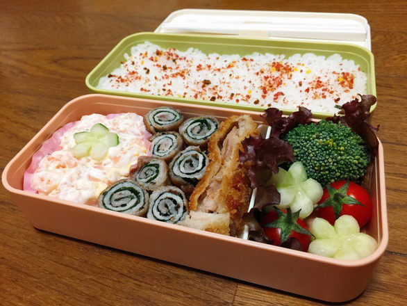 Hộp cơm đẹp như ngoài tiệm của nữ du học sinh Nhật Bản - Ảnh 3.