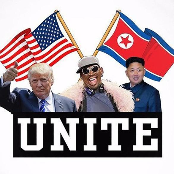 Cựu ngôi sao bóng rổ Dennis Rodman sẽ tới Singapore gặp Trump - Kim - Ảnh 1.
