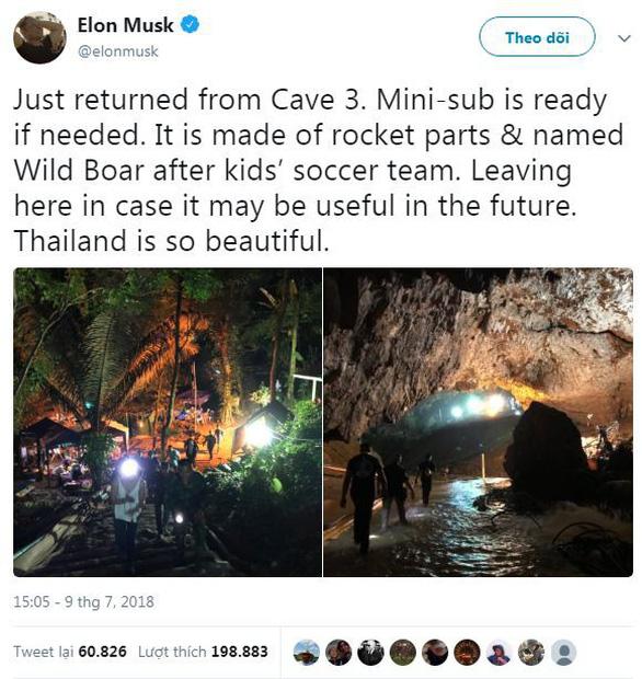 Tỉ phú Elon Musk tặng lại tàu ngầm, dân Thái cám ơn hết lời - Ảnh 2.
