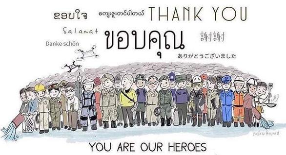Tranh giải cứu đội bóng Thái Lan khiến dân mạng say mê - Ảnh 2.