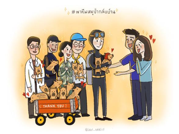 Tranh giải cứu đội bóng Thái Lan khiến dân mạng say mê - Ảnh 13.
