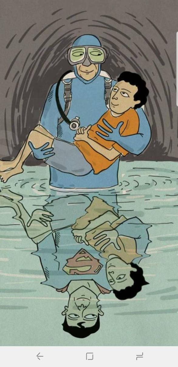 Tranh giải cứu đội bóng Thái Lan khiến dân mạng say mê - Ảnh 9.