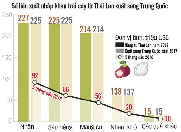Việt Nam xuất khẩu trái cây sang Trung Quốc giùm cho Thái! - Ảnh 3.