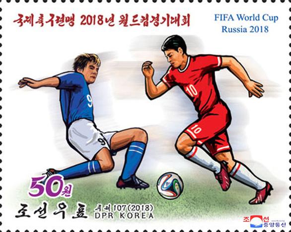 Triều Tiên phát hành bộ tem World Cup 2018 giá 2 tô phở 1 con tem - Ảnh 3.