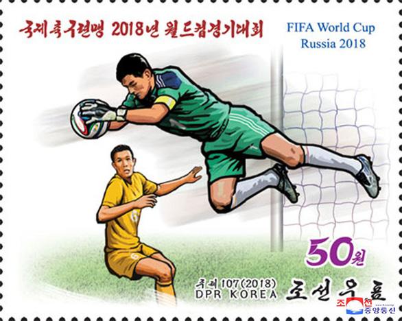 Triều Tiên phát hành bộ tem World Cup 2018 giá 2 tô phở 1 con tem - Ảnh 2.