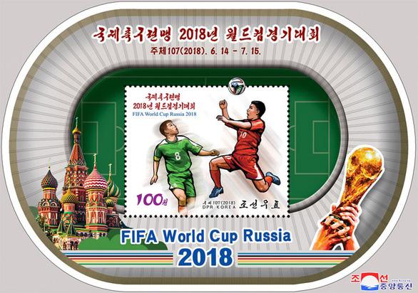 Triều Tiên phát hành bộ tem World Cup 2018 giá 2 tô phở 1 con tem - Ảnh 4.