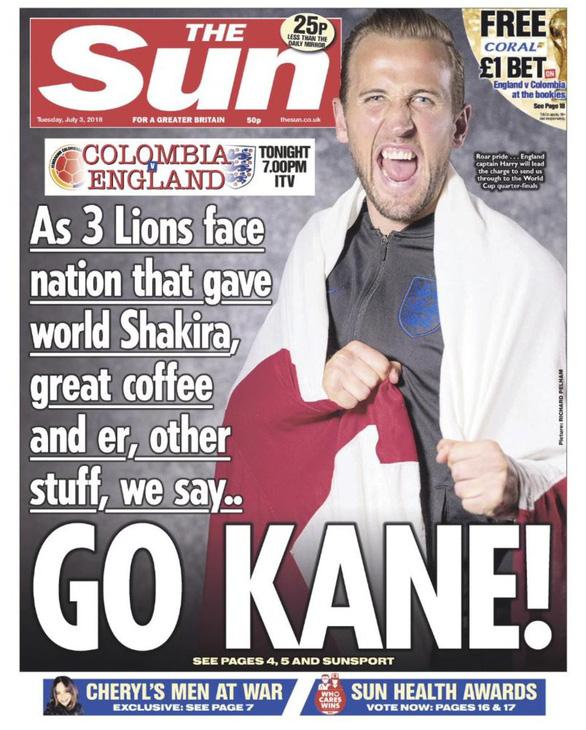 Báo Anh hứng gạch đá vì trang bìa bêu xấu Colombia tại World Cup - Ảnh 2.