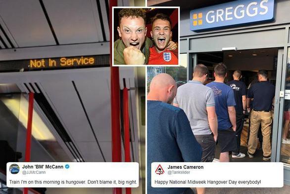 Hàng triệu người Anh say xỉn, bỏ làm vì ăn mừng World Cup thâu đêm - Ảnh 2.