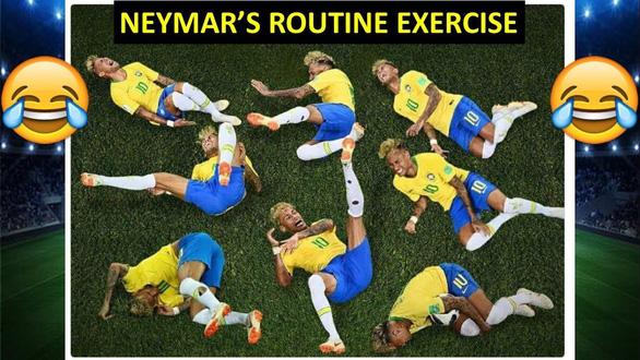 Fan chế Neymar: Từ cầu thủ thành diễn viên lăn và anh bán gà rán - Ảnh 3.