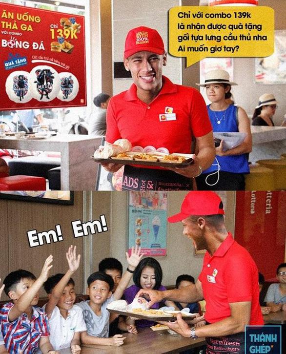 Fan chế Neymar: Từ cầu thủ thành diễn viên lăn và anh bán gà rán - Ảnh 13.
